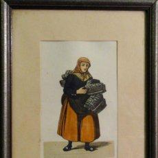 Arte: OFICIOS ANTIGUOS: VENDEDORA AMBULANTE DE FRUTA, HACIA 1808. C. SUHR. Lote 211616761