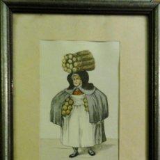 Arte: OFICIOS ANTIGUOS: VENDEDORA AMBULANTE DE VEGETALES, HACIA 1808. C. SUHR. Lote 211618121
