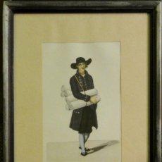 Arte: OFICIOS ANTIGUOS: VENDEDOR AMBULANTE DE PAPEL, HACIA 1808. C. SUHR. Lote 211619266