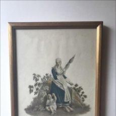 Arte: MUJER HILANDO DE TESINO (SUIZA, EUROPA), 1824. GABRIEL LORY SOHN Y FRIEDRICH WIHLEM MORITZ. Lote 211683235