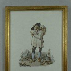 Arte: HOMBRE DE MONTAÑA DE URI (SUIZA, EUROPA) 1824. GABRIEL LORY SOHN Y FRIEDRICH WIHLEM MORITZ. Lote 211688643