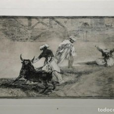 Arte: AFTER FRANCISCO DE GOYA Y LUCIENTES - 1970 TAUROMAQUÍA. Lote 211875821