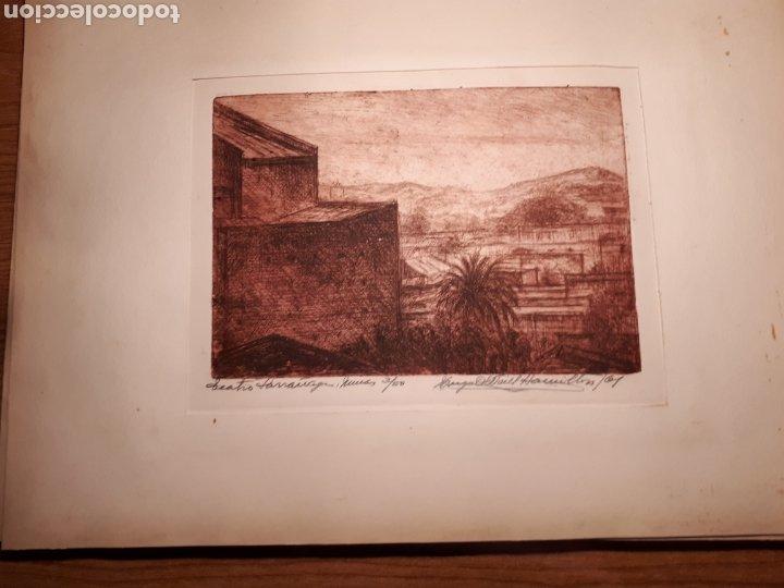 Arte: HUGO ONEILL HAMILTON. NUEVE AGUAFUERTES ORIGINALES.TIRADA DE 50, FIRMADOS Y NUMERADOS. - Foto 2 - 211919595