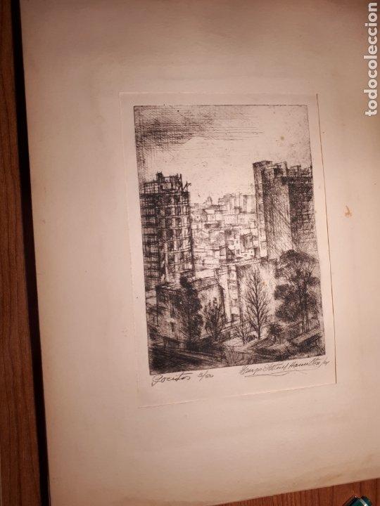 Arte: HUGO ONEILL HAMILTON. NUEVE AGUAFUERTES ORIGINALES.TIRADA DE 50, FIRMADOS Y NUMERADOS. - Foto 3 - 211919595
