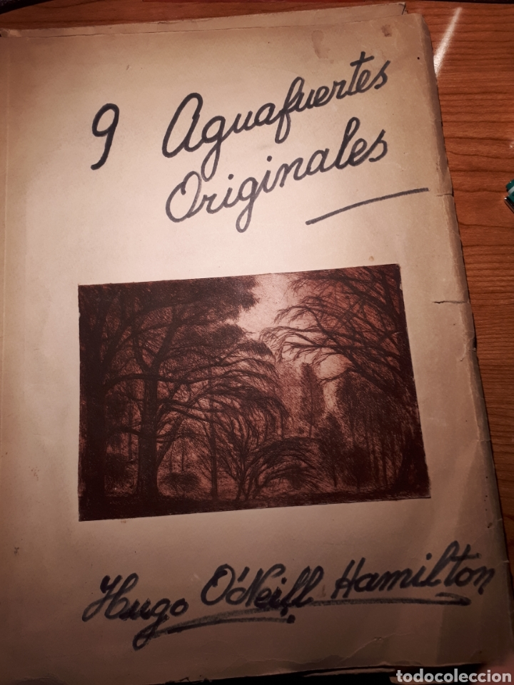 HUGO O'NEILL HAMILTON. NUEVE AGUAFUERTES ORIGINALES.TIRADA DE 50, FIRMADOS Y NUMERADOS. (Arte - Grabados - Contemporáneos siglo XX)