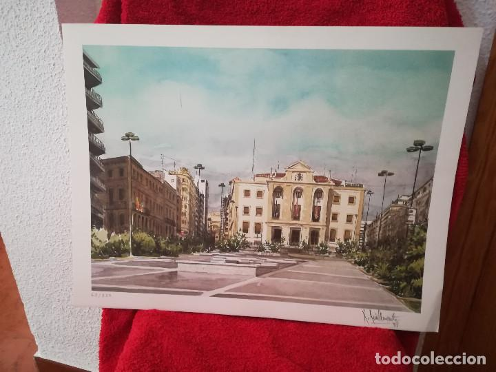 Arte: GRABADO DEL PINTOR ALICANTINO ROBERTO RUIZ MORANTE - Foto 2 - 211946020