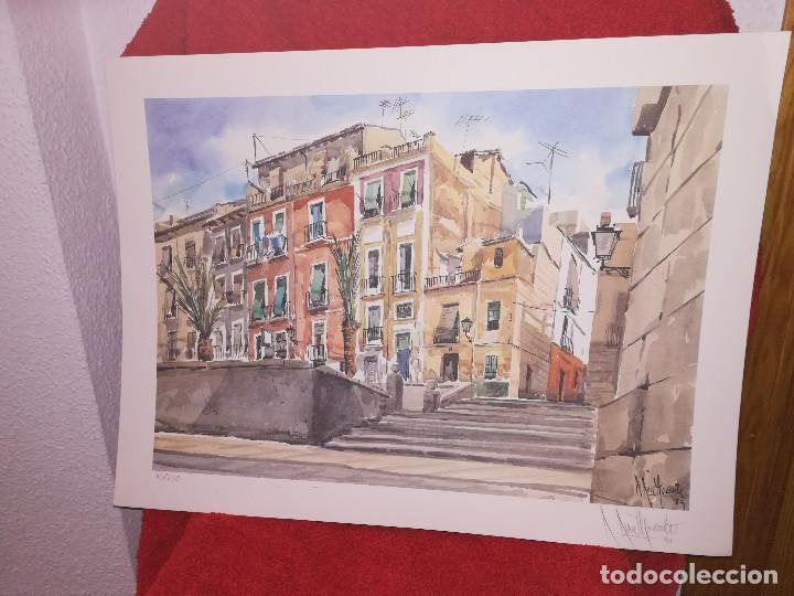 Arte: GRABADO DEL PINTOR ALICANTINO ROBERTO RUIZ MORANTE - Foto 2 - 211947260