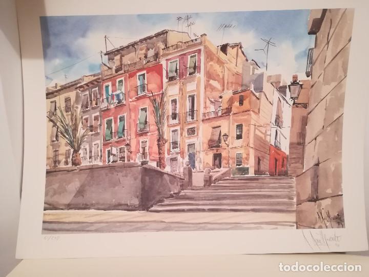 Arte: GRABADO DEL PINTOR ALICANTINO ROBERTO RUIZ MORANTE - Foto 3 - 211947260