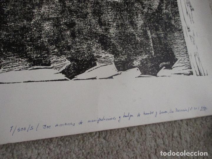 Arte: Agustin Ibarrola, grabado xilográfico al linoleo, años 60, Estampa popular de Vizcaya - Foto 2 - 212092348