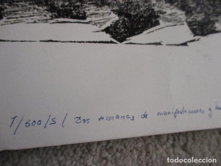 Arte: Agustin Ibarrola, grabado xilográfico al linoleo, años 60, Estampa popular de Vizcaya - Foto 4 - 212092348