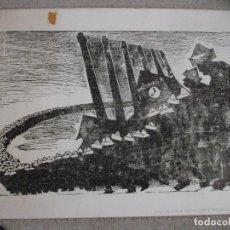 Arte: AGUSTIN IBARROLA, GRABADO XILOGRÁFICO AL LINOLEO, AÑOS 60, ESTAMPA POPULAR DE VIZCAYA. Lote 212092348