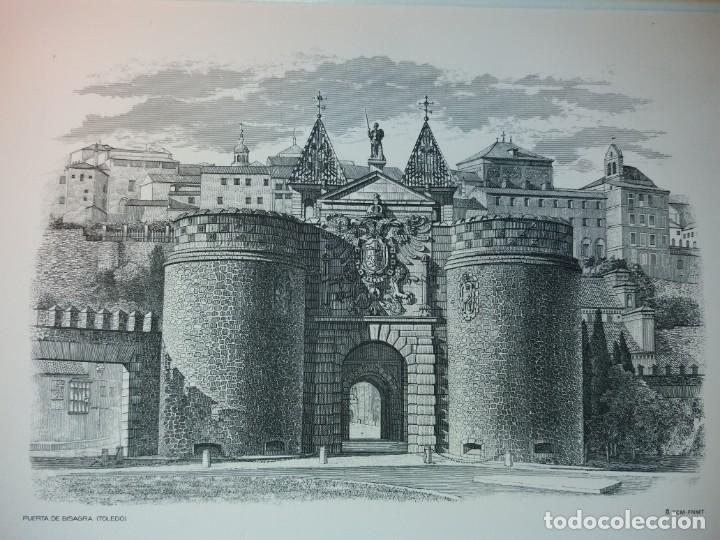 TOLEDO - PUERTA DE LA BISAGRA - GRABADO CALCOGRAFICO RCM- FNMT.- VER FOTOGRAFÍAS EN DESCRIPCIÓN (Arte - Grabados - Contemporáneos siglo XX)