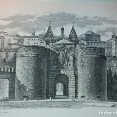 Arte: TOLEDO - PUERTA DE LA BISAGRA - GRABADO CALCOGRAFICO RCM- FNMT.- VER FOTOGRAFÍAS EN DESCRIPCIÓN. Lote 212122731