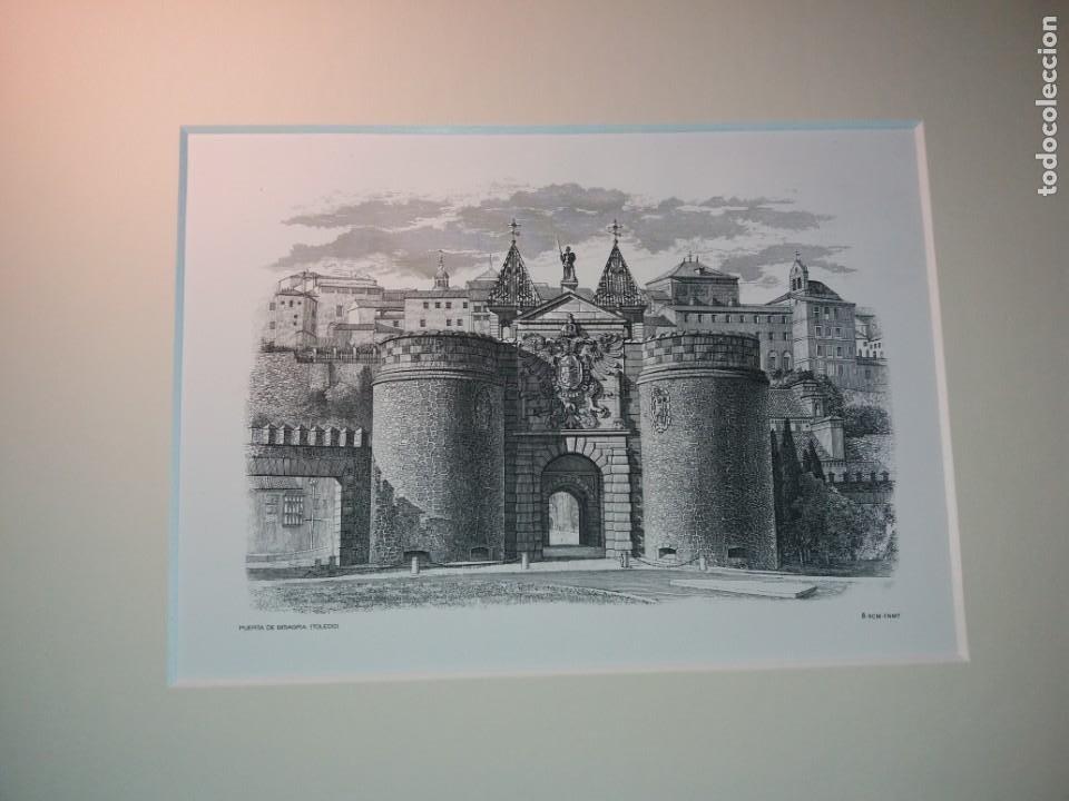 Arte: TOLEDO - PUERTA DE LA BISAGRA - Grabado calcografico RCM- FNMT.- VER FOTOGRAFÍAS EN DESCRIPCIÓN - Foto 2 - 212122731