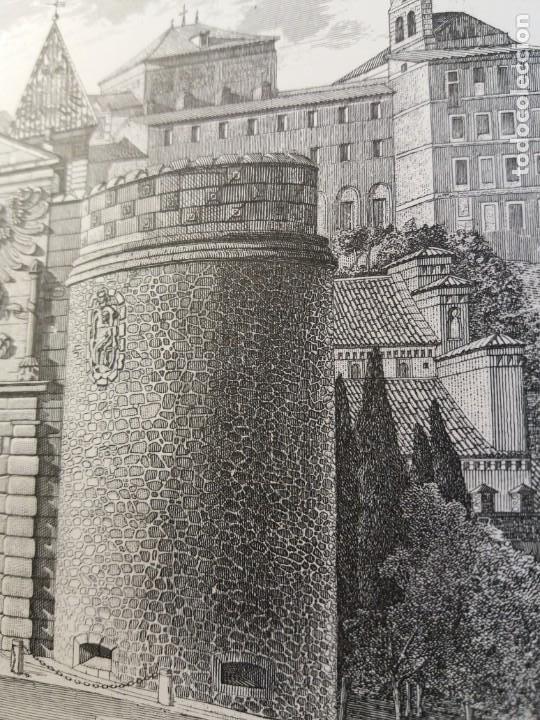 Arte: TOLEDO - PUERTA DE LA BISAGRA - Grabado calcografico RCM- FNMT.- VER FOTOGRAFÍAS EN DESCRIPCIÓN - Foto 6 - 212122731