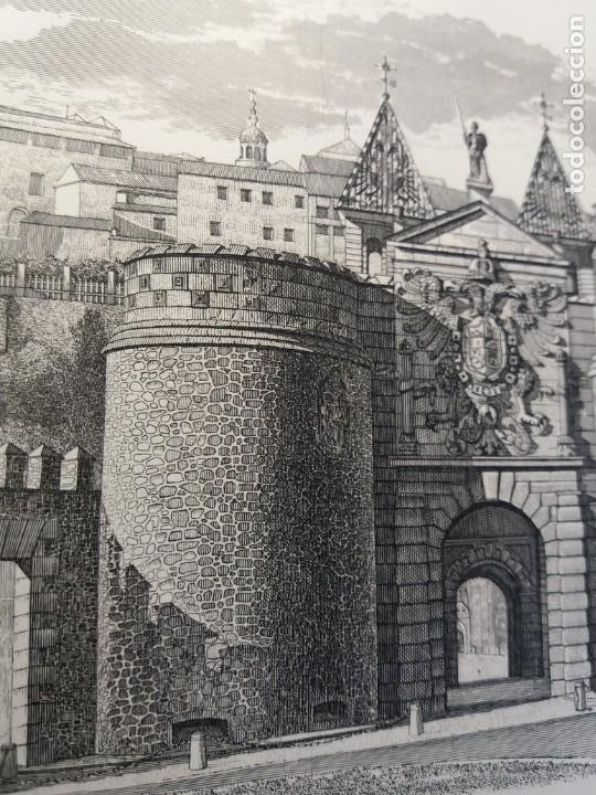 Arte: TOLEDO - PUERTA DE LA BISAGRA - Grabado calcografico RCM- FNMT.- VER FOTOGRAFÍAS EN DESCRIPCIÓN - Foto 7 - 212122731