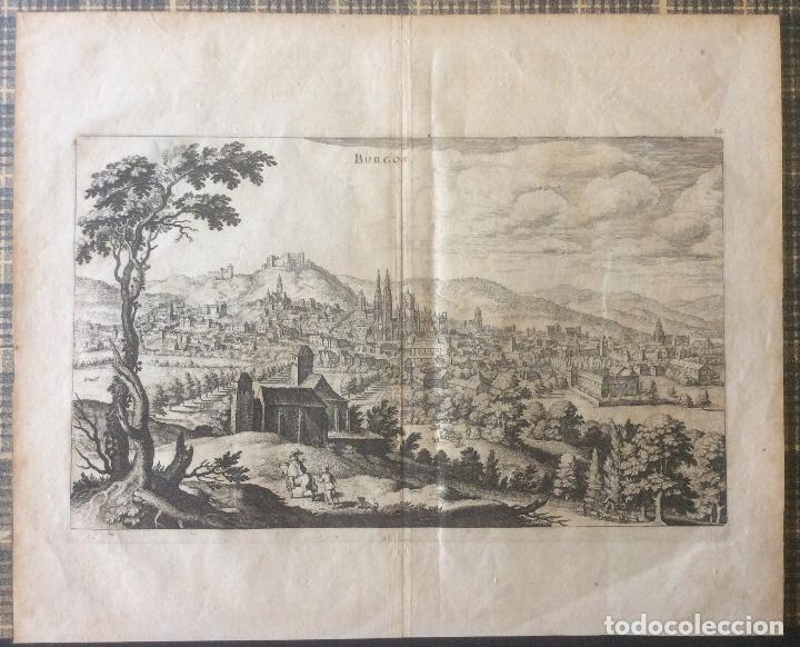 BURGOS GRABADO ORIGINAL SIGLO XVII(1646) MATHIAS MERIAN (1593-1650).IDEAL COLECCIONISTAS (Arte - Grabados - Antiguos hasta el siglo XVIII)