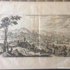Arte: BURGOS GRABADO ORIGINAL SIGLO XVII(1646) MATHIAS MERIAN (1593-1650).IDEAL COLECCIONISTAS. Lote 212161520