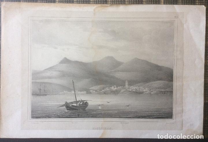 ALGECIRAS ANTIGUA LITOGRAFÍA. AÑO 1829 SIGLO XIX-MEDIDA 36X27 CM (Arte - Grabados - Modernos siglo XIX)