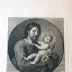 Arte: ANTIGUO GRABADO AL ACERO DE EL PATRIARCA SAN JOSEPH,GRABADO POR LUIS FERNÁNDEZ NOSERET,SIGLO XVIII. Lote 212188208