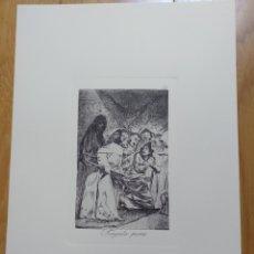 Arte: GOYA, LOS CAPRICHOS N.58 TRAGARLA PERRO, AGUAFUERTE ORIGINAL CON CERTIFICADO. Lote 212283891