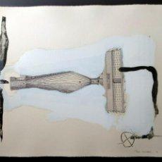 Arte: RIERA I ARAGO, GRABADO FIRMADO AMANO. Lote 212502046