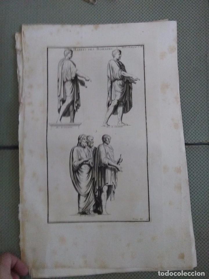 GRABADO MONTFAUCON 5 / VESTIMENTA / S. XVIII (Arte - Grabados - Antiguos hasta el siglo XVIII)