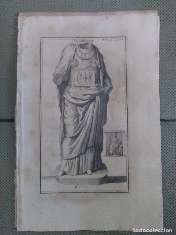 GRABADO MONTFAUCON 8 / INDUMENTARIA / S. XVIII (Arte - Grabados - Antiguos hasta el siglo XVIII)