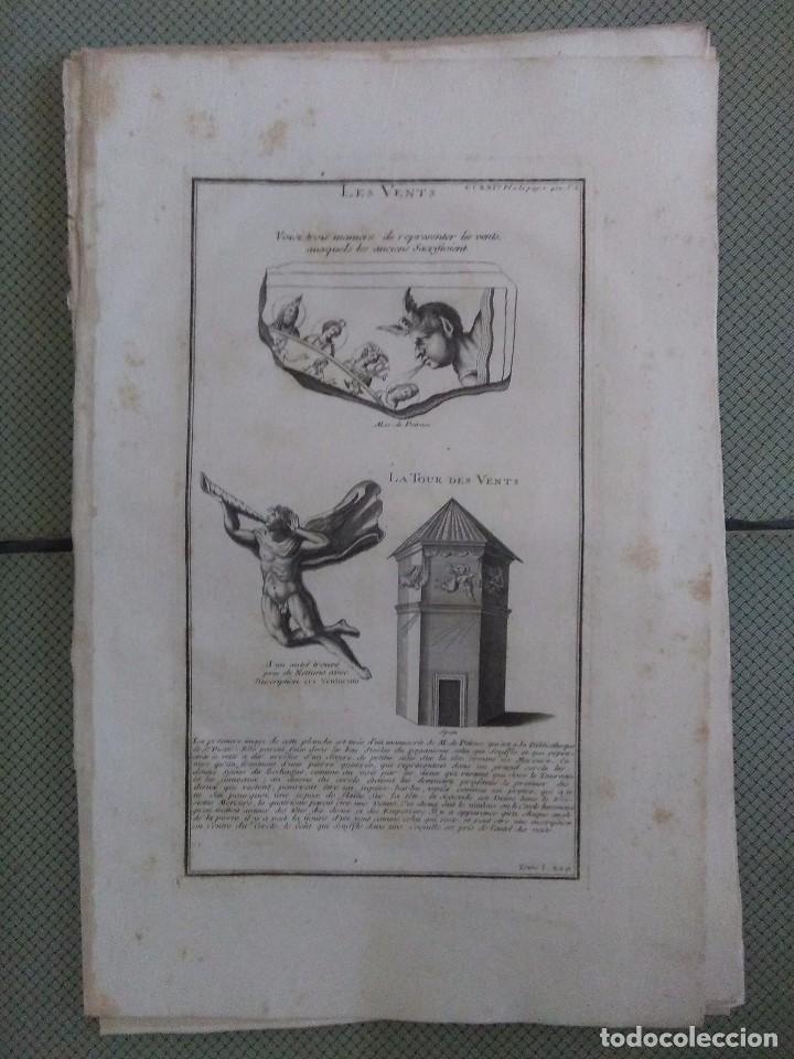 GRABADO MONTFAUCON 12 / LOS VIENTOS / S. XVIII (Arte - Grabados - Antiguos hasta el siglo XVIII)