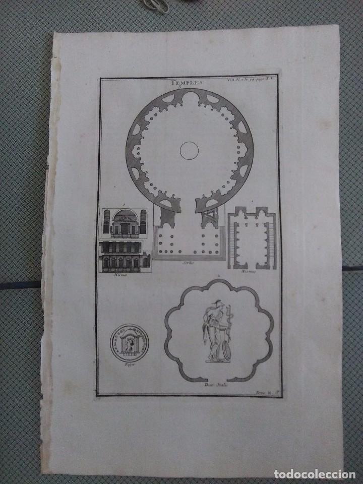 GRABADO MONTFAUCON 15 / ARQUITECTURA, TEMPLOS / S. XVIII (Arte - Grabados - Antiguos hasta el siglo XVIII)