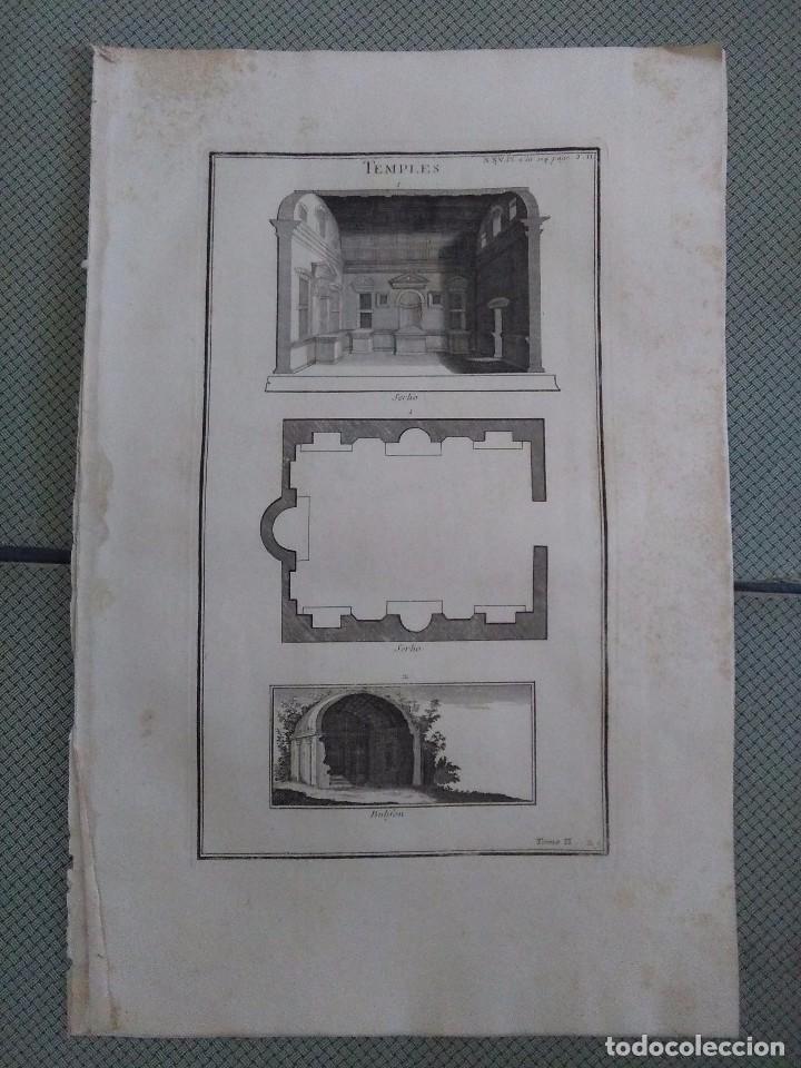 GRABADO MONTFAUCON 16 / ARQUITECTURA, TEMPLOS / S. XVIII (Arte - Grabados - Antiguos hasta el siglo XVIII)