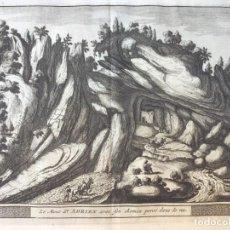 Arte: GRABADO ANTIGUO. MONTE SAN ADRIAN GUIPUZC. DELICES ESPAGNE (ESPAÑA). VAN DER AA / COLMENAR. AÑO 1715. Lote 212535058