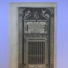 Arte: GRABADO ANTIGUO. EL ESCORIAL MAUSOLEO. DELICES ESPAGNE (ESPAÑA). VAN DER AA / COLMENAR. AÑO 1715. Lote 212539086
