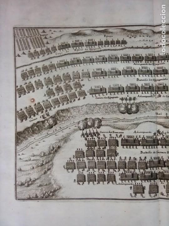 Arte: GRABADO BATALLA LÉRIDA, LLEIDA, CATALUÑA, 1642, GUERRA SEGADORES, ORIGINAL1648.MERIAN,FRANKFURT. - Foto 3 - 212544371