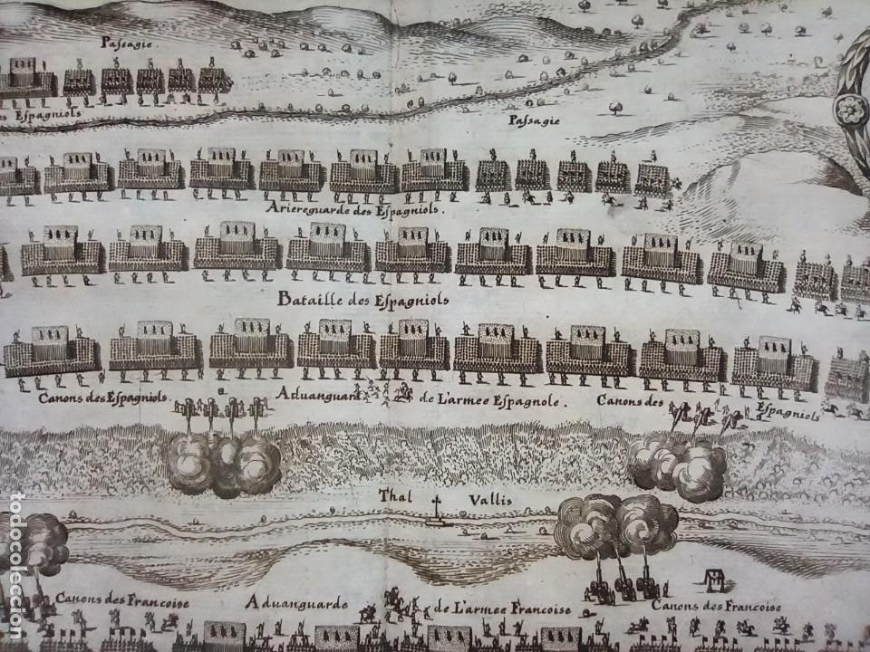 Arte: GRABADO BATALLA LÉRIDA, LLEIDA, CATALUÑA, 1642, GUERRA SEGADORES, ORIGINAL1648.MERIAN,FRANKFURT. - Foto 8 - 212544371