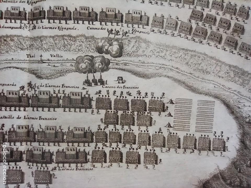 Arte: GRABADO BATALLA LÉRIDA, LLEIDA, CATALUÑA, 1642, GUERRA SEGADORES, ORIGINAL1648.MERIAN,FRANKFURT. - Foto 10 - 212544371
