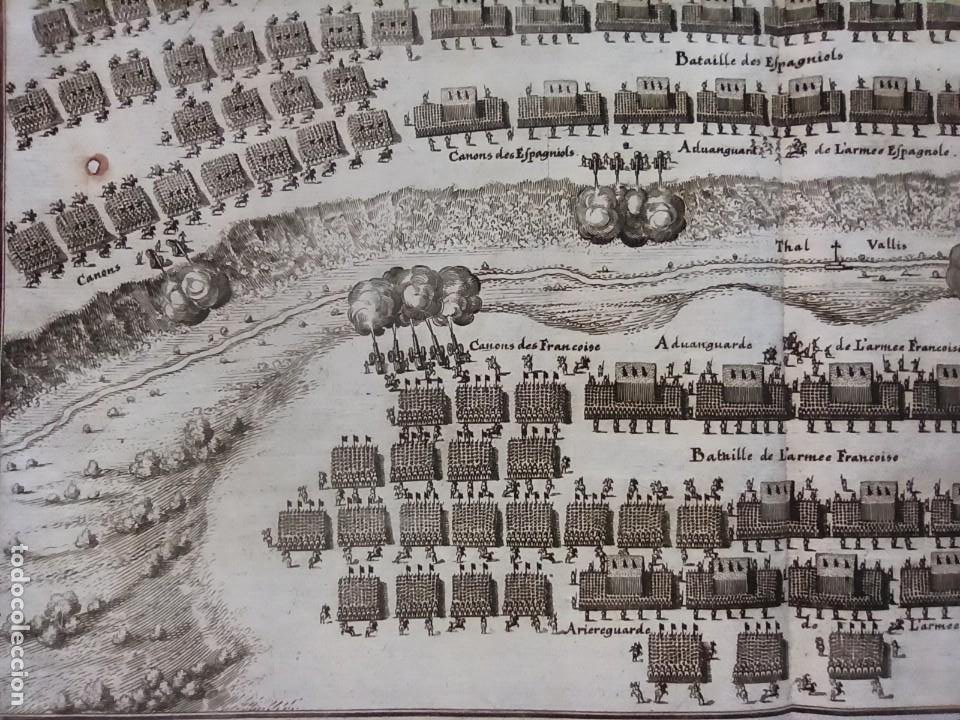Arte: GRABADO BATALLA LÉRIDA, LLEIDA, CATALUÑA, 1642, GUERRA SEGADORES, ORIGINAL1648.MERIAN,FRANKFURT. - Foto 12 - 212544371