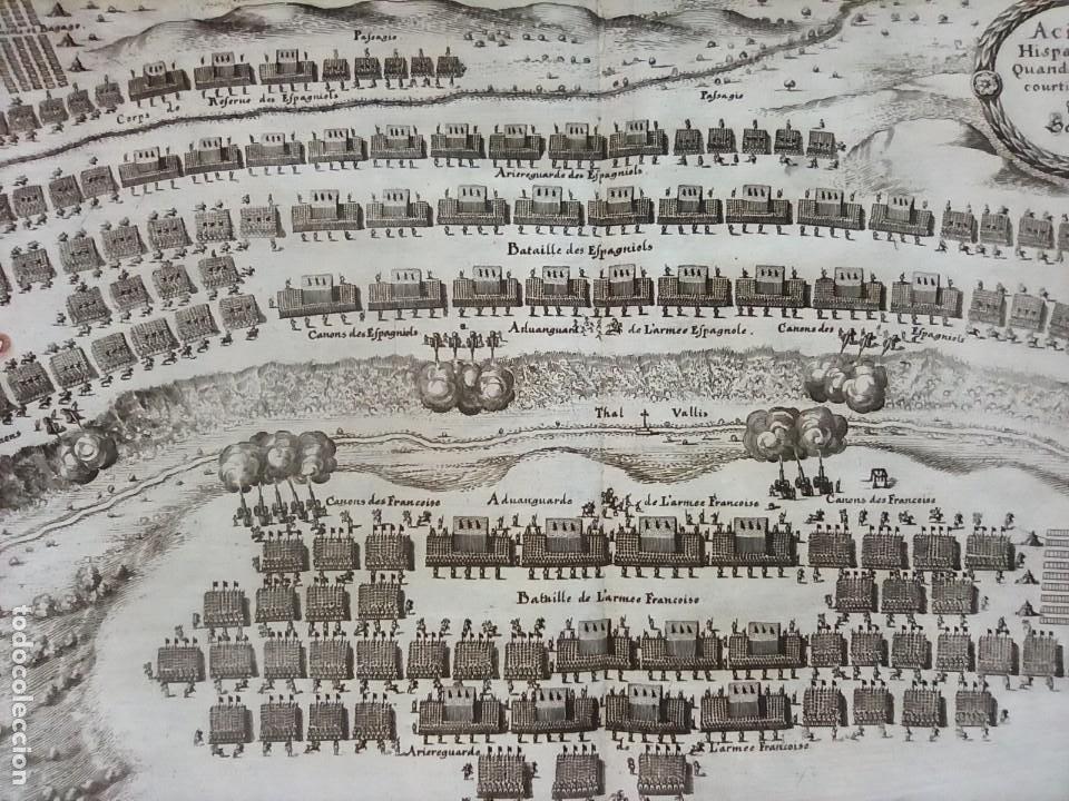 Arte: GRABADO BATALLA LÉRIDA, LLEIDA, CATALUÑA, 1642, GUERRA SEGADORES, ORIGINAL1648.MERIAN,FRANKFURT. - Foto 13 - 212544371