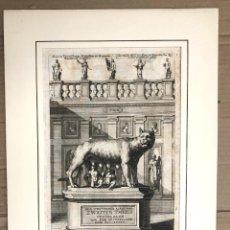 Arte: GRABADO ROMULO Y REMO. DER TEUTSCHEN ACADEMIE ZWEITEN THEILS. SANDRART. 1679. Lote 212697522