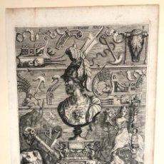 Arte: GRABADO LUCII SCIPIONIS STATUA. ESTATUA DE LUCIO CORNELIO ESCIPION. ROMA. G.C. EIMART. C. 1700. Lote 212697733
