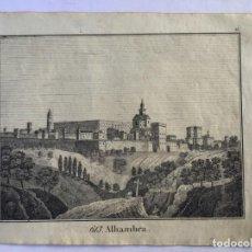 Arte: GRABADO ANTIGUO ORIGINAL. ALHAMBRA / GRANADA (ESPAÑA). ANÓNIMO. AÑO 1830. Lote 212703043