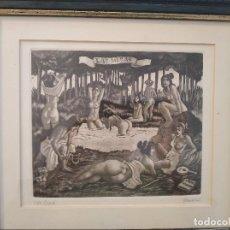 Art: GRABADO DE PERELLON ARTISTA IMPORTANTE CONOCIDO VER WIKIPEDIA FIRMADO NUMERADO PERFECTA CONSERVACION. Lote 212711980