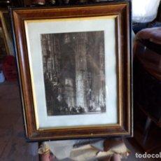 Arte: GRABADO BROMOTINTA FIRMADO A MANO MIR ,, PUEDE SER JOAQUIM MIR TRINXET INTERIOR SAN MIGUEL JEREZ. Lote 212747550