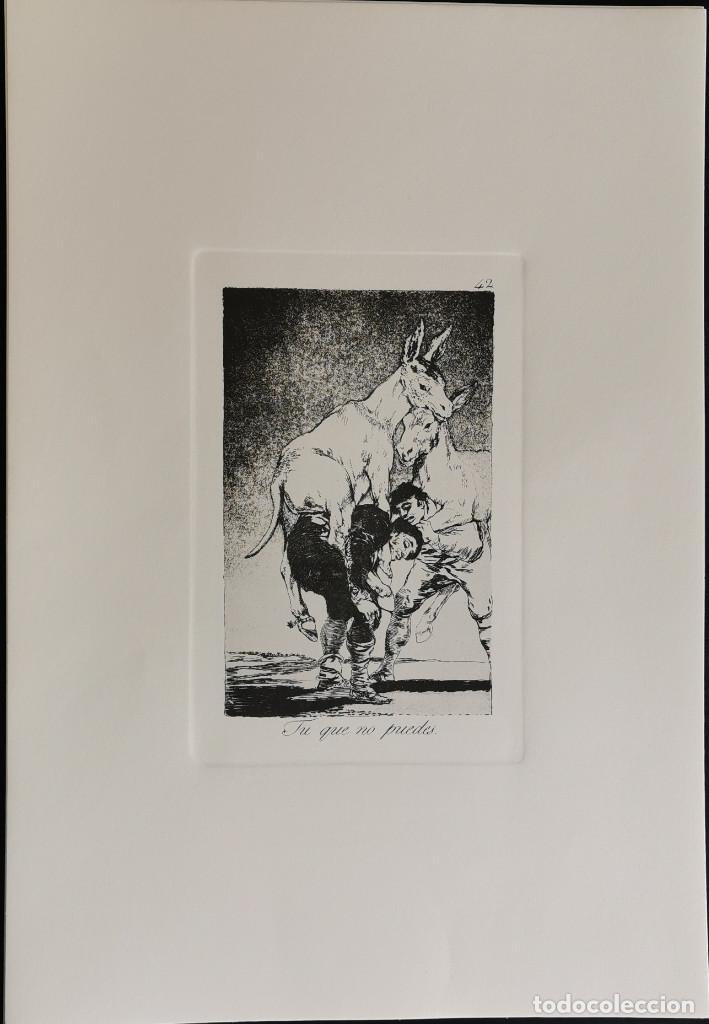 Arte: Goya,Los Caprichos n.42 Tu que no puedes,aguafuerte original directo de plancha con certificado - Foto 2 - 212763663