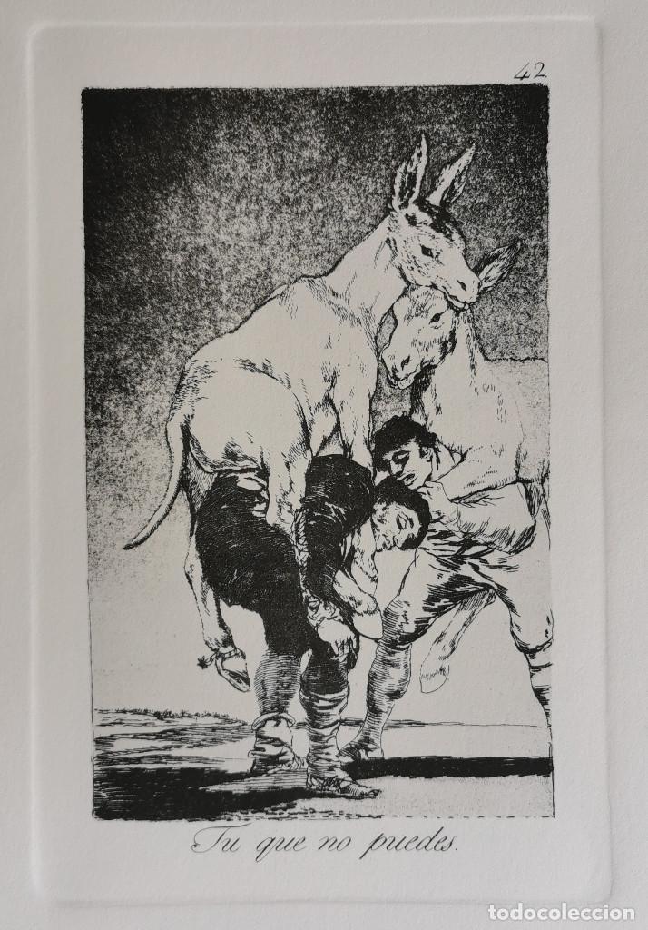 GOYA,LOS CAPRICHOS N.42 TU QUE NO PUEDES,AGUAFUERTE ORIGINAL DIRECTO DE PLANCHA CON CERTIFICADO (Arte - Grabados - Contemporáneos siglo XX)