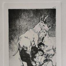 Arte: GOYA,LOS CAPRICHOS N.42 TU QUE NO PUEDES,AGUAFUERTE ORIGINAL DIRECTO DE PLANCHA CON CERTIFICADO. Lote 212763663