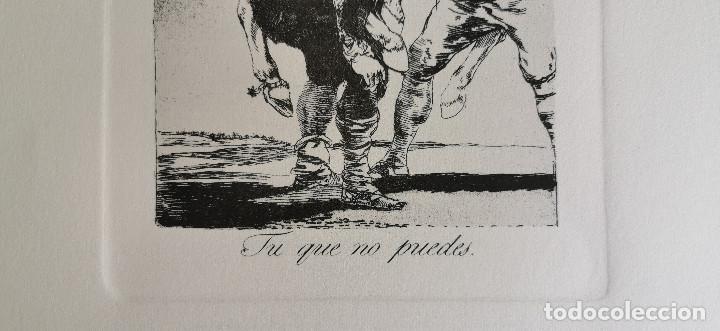Arte: Goya,Los Caprichos n.42 Tu que no puedes,aguafuerte original directo de plancha con certificado - Foto 3 - 212763663