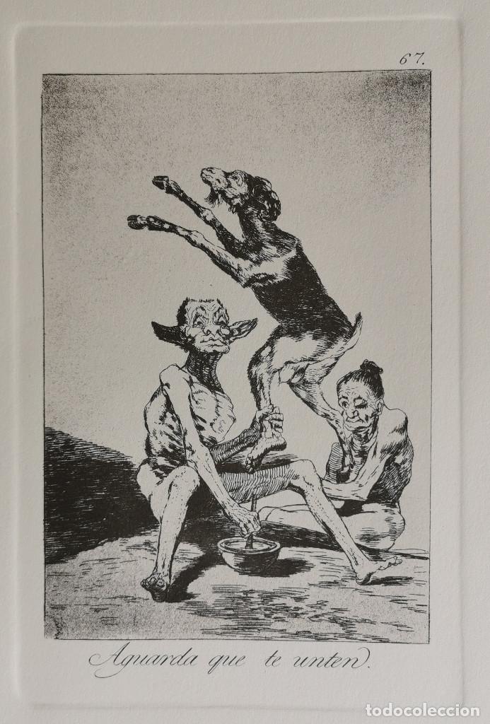 GOYA,LOS CAPRICHOS N.67 AGUARDA QUE TE UNTE,AGUAFUERTE ORIGINAL DIRECTO DE PLANCHA CON CERTIFICADO (Arte - Grabados - Modernos siglo XIX)