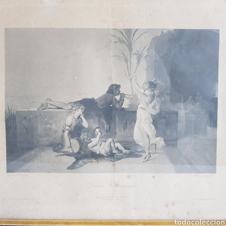 DANZA POMPEYANA POR COUPIL & CO. SIGLO 19 (Arte - Grabados - Modernos siglo XIX)