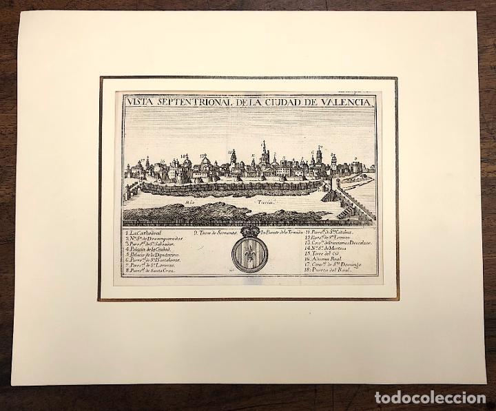VISTA SEPTENTRIONAL DE LA CIUDAD DE VALENCIA. EXTRAIDO DEL ATLANTE ESPAÑOL. AÑO 1784 (Arte - Grabados - Antiguos hasta el siglo XVIII)